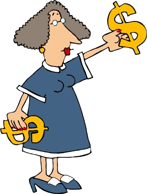 Woman  with Money Signs